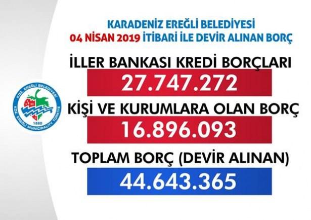 Posbıyık: ´44 milyon 643 bin lira borcumuz var´