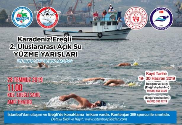 Açık su yüzme yarışı kayıtları başladı