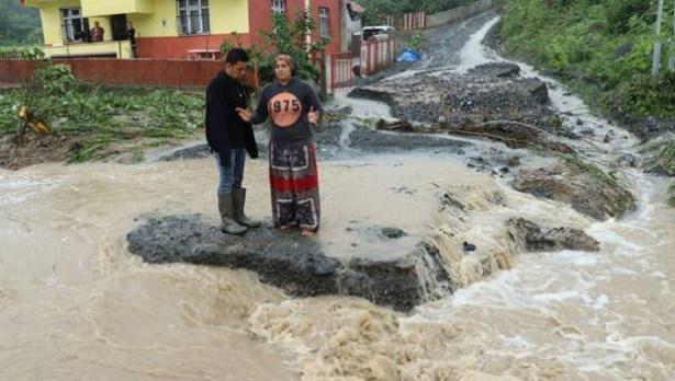 Ereğli´de köyler su altında kaldı