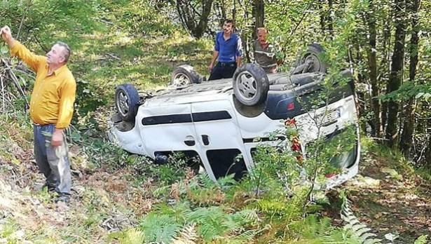 Gümeli yolunda kaza… 2 yaralı