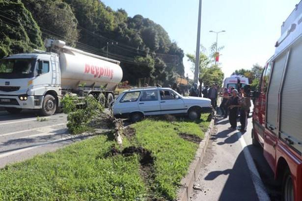 Gülüç´teki kazada 6 kişi yaralandı