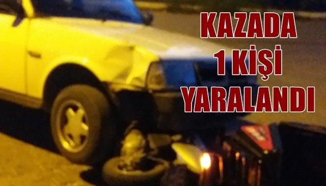 Accidente en Alaplı, 1 herido